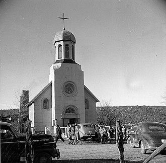 Peñasco, New Mexico - Church in Peñasco, 1943