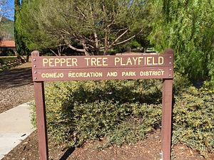 Pepper Tree Playfield - Image: Pepper Tree Playfield Newbury Park