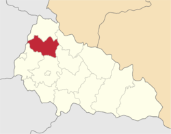 Location of Perečinas rajons