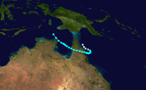 Cyclone Peter - Image: Peter 1978 track