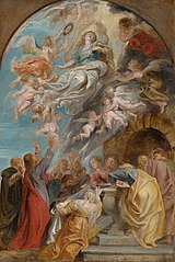 sketch for the Assumption of the Virgin