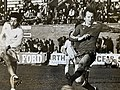 Peter Wilkey - signed y Geoff Hurst from Oswestry town for £6000 - on target.jpg