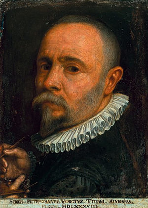 Simone Peterzano - Self portrait (1589)