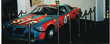 Petty 200th win replica car at Daytona USA.jpg