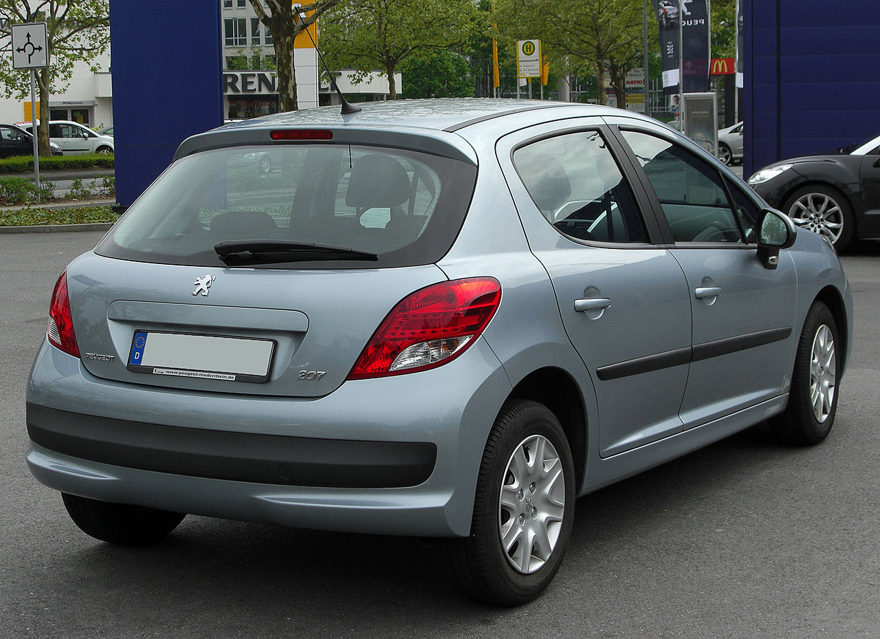 file peugeot 207 facelift rear wikipedia. Black Bedroom Furniture Sets. Home Design Ideas