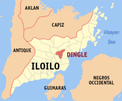 Map of Iloilo with Dingle highlighted
