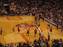 A home game against the Sacramento Kings in the 2006-07 NBA season.