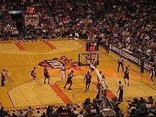 A home game against the Sacramento Kings in the 2006-07 NBA season.