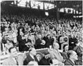Photograph of President Truman and other dignitaries saluting the flag at Griffith Stadium in Washington, prior to... - NARA - 200366.jpg