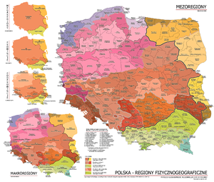 Regions of Poland - Maps of the geophysical regions of Poland