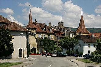 Le Landeron - South gate of the town
