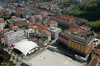 Bellinzona - Piazza del Sole, Post Office and Station