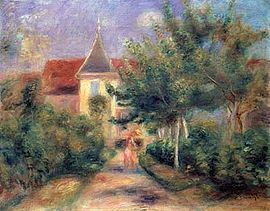 House at Essoyes by Renoir