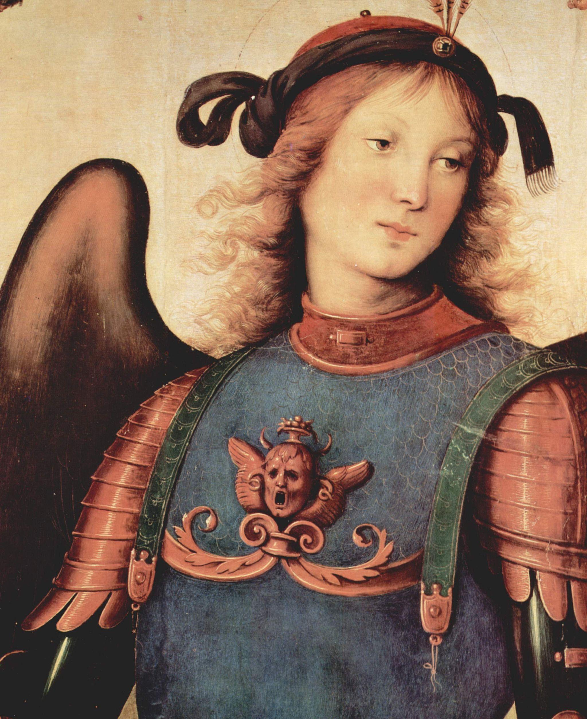 Pietro Perugino, Pala di Vallombrosa (San Michele, dettaglio), 1500, olio su tavola, Galleria dell'Accademia, Firenze