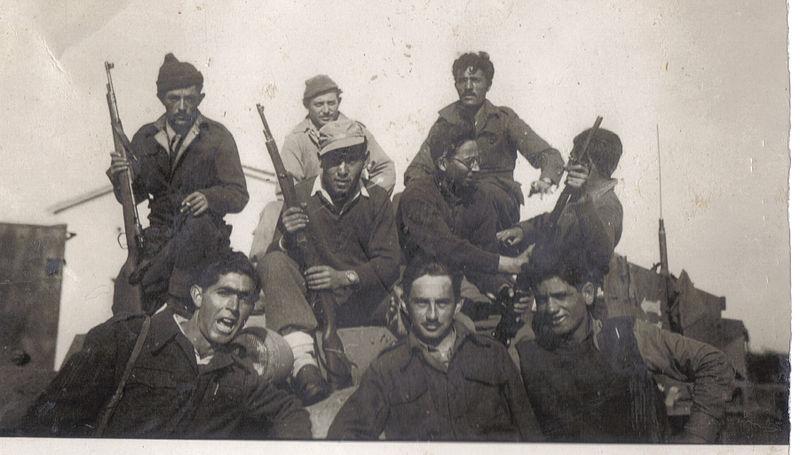 קבוצת חיילים מגדוד 19 של חטיבת גולני 1949