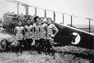 Eleventh Air Force - Capt. St. Clair Streett (at left) with pilots of the 1920 Alaskan Flying Expedition