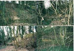 Oxfordshire Ironstone Railway - Image: Pin hill gradeing works