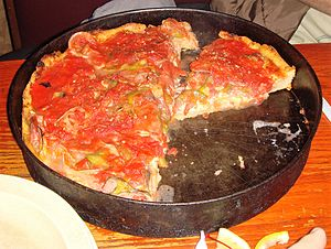 Chicago-style pizza - Image: Pizzeria Uno Chicago style deep dish pizza