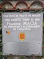 Placa commemorativa dels Fests de Prats de Molló a Vil·la Denise 01.jpg