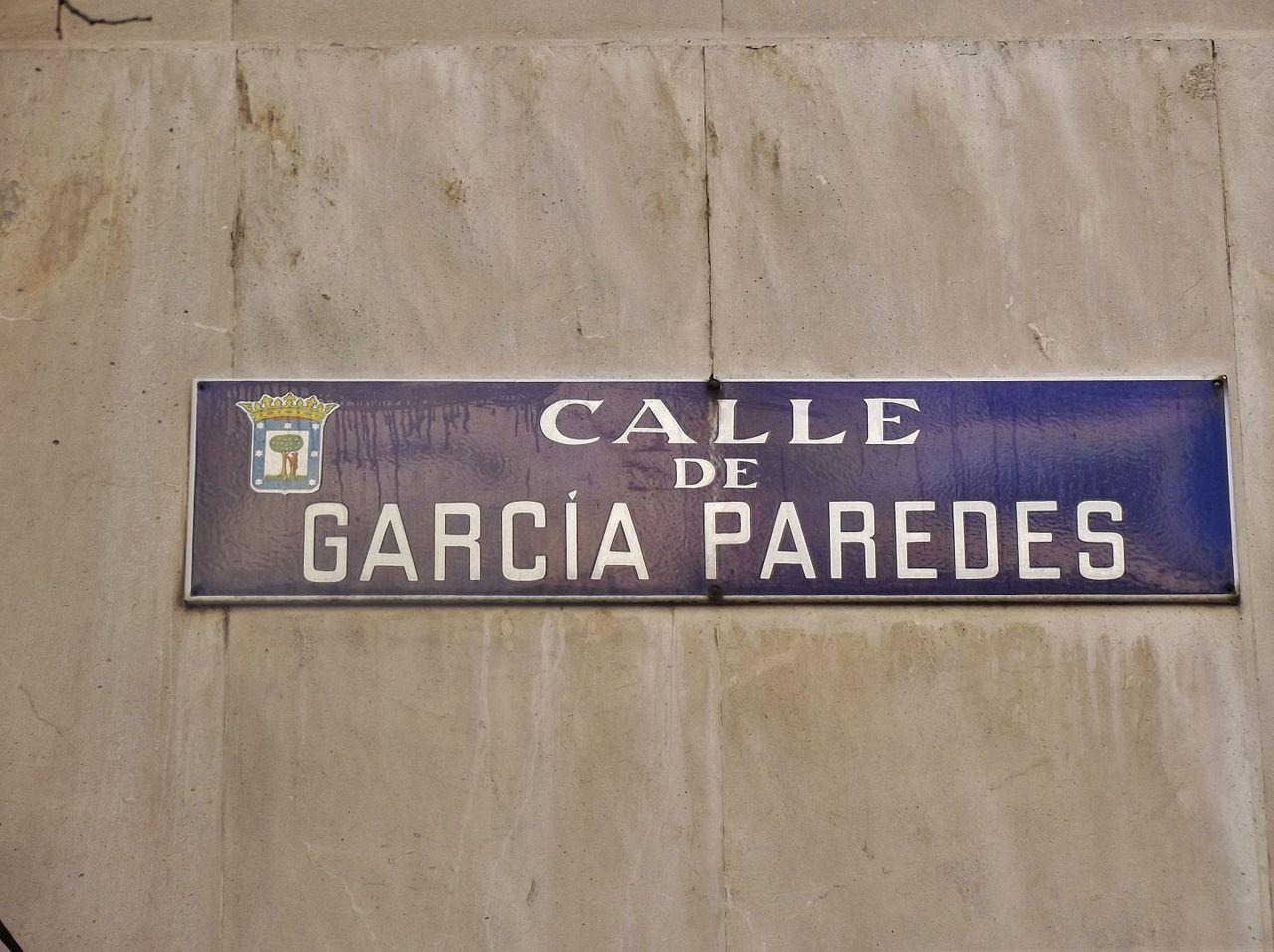 Archivo Placa De La Calle De Garcia De Paredes Jpg Wikipedia La