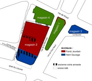 La Samaritaine - Image: Plan Samaritaine