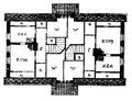 Plan af bostadshus för arbetare vid Uppsala ångkvarns aktiebolag, Öfre våningen, Nordisk familjebok.png