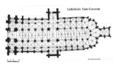 Plan de la cathédrale de Quimper par Chaussepied.png