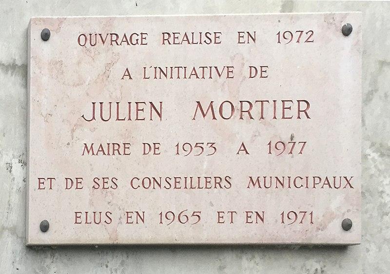 Plaque pont Saint-Martin-du-Mont.