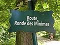 Plaque route Ronde Minimes Paris 1.jpg