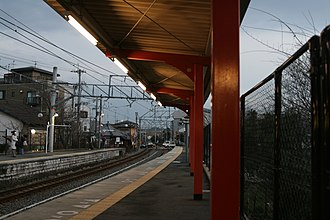 Inari Station - Image: Platform of Inari station