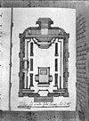 plattegrond naar tekening van d.de fonseea 1729 -