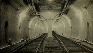 Tremont Street Subway - The now-unused southern portion of the Tremont Street Subway, looking north towards Boylston – the outbound track's lower elevation takes it under the Boylston Street Subway's tracks.