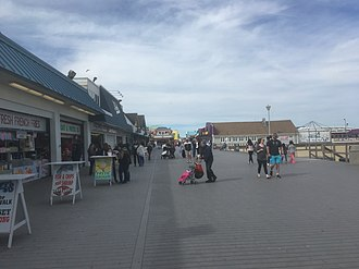 Point Pleasant Beach, New Jersey - The Point Pleasant Beach boardwalk looking north