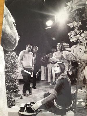 Polka Dot Door - Image: Polka Dot Door Season One Filming with Nina Keogh and producer, Peggy Liptrott (1971)
