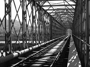 English: Eiffel bridge, Caminha, Minho - Portu...