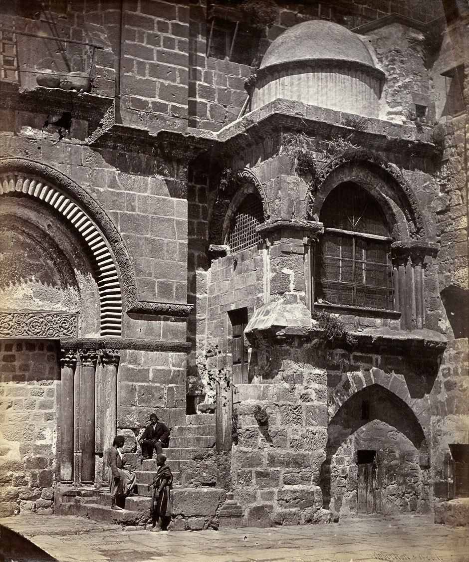 Porch of the Church of the Holy Sepulchre Jerusalem 1859