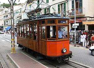 Heritage streetcar - Port de Sóller to Soller tram, Majorca, Spain