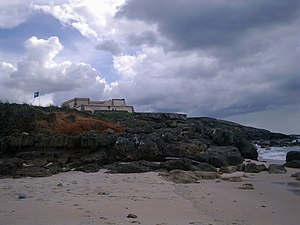 Porto Covo - The Forte da Ilha de Dentro along the beach of Pessegueiro