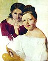 Portrait of Artist's Daughters Alexandra and Felisata by Venetsianov.JPG