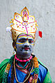 Potharaju dancer during Bonalu.jpg