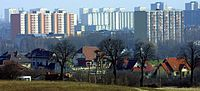 Poznań Piątkowo from Góra Moraska skyline 2005-04.jpg