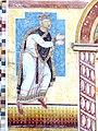 Prüfening Klosterkirche - Romanische Fresken 3a König Heinrich V.jpg