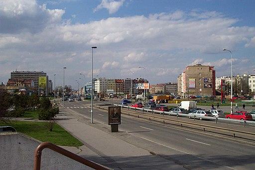 Praha, Pankrác, křižovatka