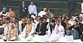 Pratibha Devisingh Patil, the Vice President, Shri Mohd. Hamid Ansari, the Chairperson, National Advisory Council, Smt. Sonia Gandhi.jpg