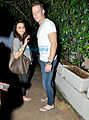 Preity Zinta snapped with David Miller post dinner at Olive.jpg