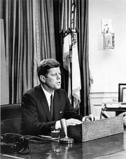 John F. Kennedy addresses the nation about Civil Rights on June 11, 1963