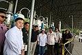 President Rodrigo Duterte is accompanied by Pampanga Governor Lilia Pineda during an ocular inspection of the seized shabu laboratory in Arayat, Pampanga on September 27 (4).jpg