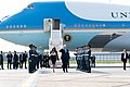 President Trump and First Lady Melania Trump Arrive at London Stansted Airport (47999967618).jpg