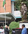 Prime Minister Narendra Modi pays tribute to Mahatma Gandhi at University of Nairobi.jpg