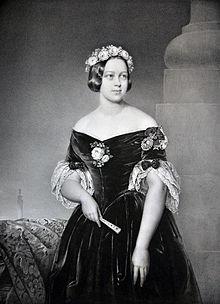 Prinzessin Marie von Sachsen-Altenburg nach der Hochzeit mit Georg V., König von Hannover (Quelle: Wikimedia)